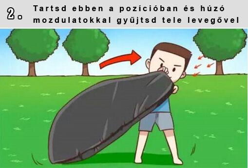 levegő felállítása)