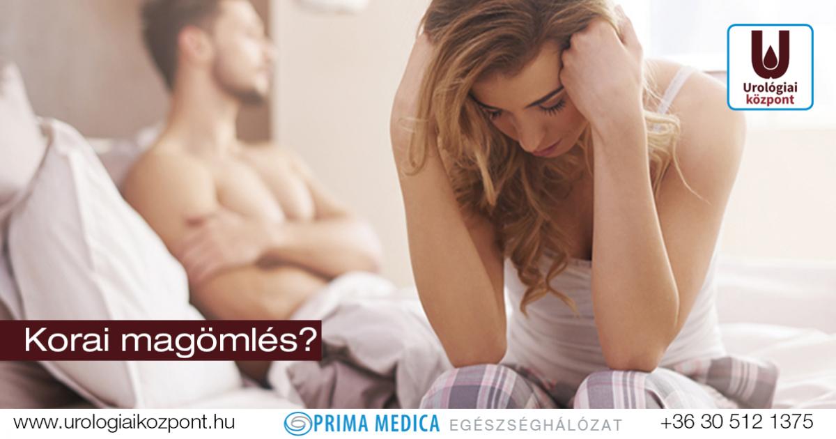 erekcióval és korai magömléssel kapcsolatos problémák