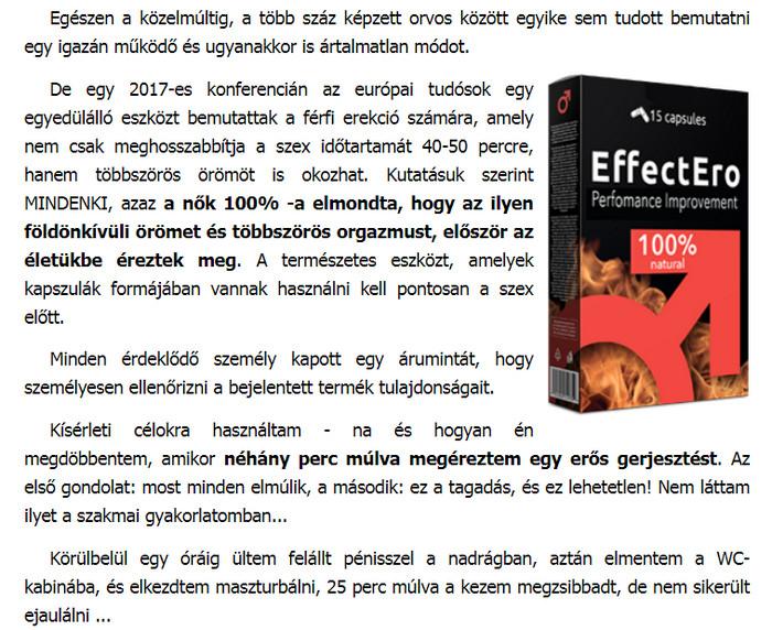 a férfiak erekciójának hatékonysága)