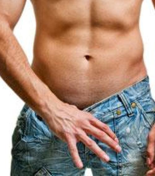 férfi test és a pénisz)